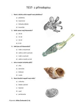 TEST- z přírodopisu