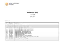 Katalog eGON služeb verze 8.07