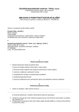 Smlouva  - Sociálně-psychiatrické centrum
