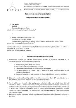 Smlouva o poskytování služby PSB
