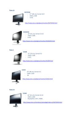 """Řada SX SX2762W - 27"""" (68 cm), formát 16:9 - 2560 x 1440"""