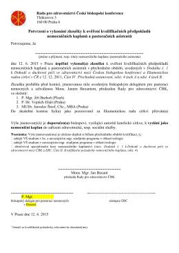 Rada pro zdravotnictví České biskupské konference