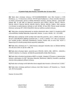 Usnesení z 8.jednání Rady obce Kvasice, konaného dne 12.února