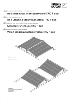 Freiaufstellungs-Montagesystem TRIC F duo Free