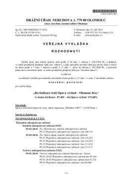DRÁŽNÍ ÚŘAD, NERUDOVA 1, 779 00 OLOMOUC
