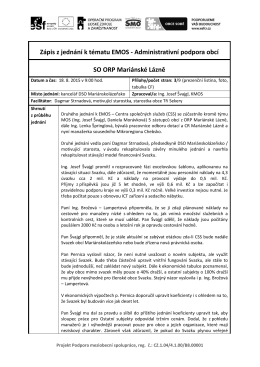 Zápis z jednání k tématu EMOS - Administrativní podpora obcí SO