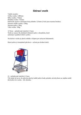 Sbírací vozík