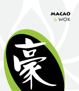 Menu - Macao restaurant