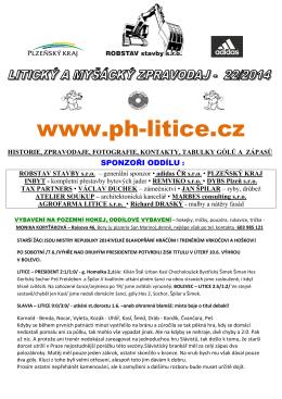 zpravodaj číslo 22/2014 z 11.VI. - TJ Plzeň