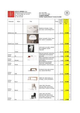 Výprodej červen2015 - A.M.O.S. Design, s.r.o.