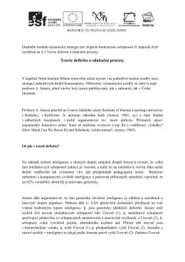 Rozšížení dynamické strategie pro zlepšení konkurenceschopnosti II.