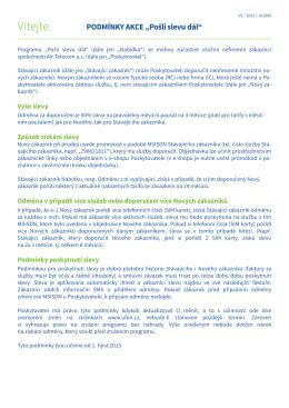 Podmínky akce Pošli slevu dál (platnost od 1. 10. 2015)