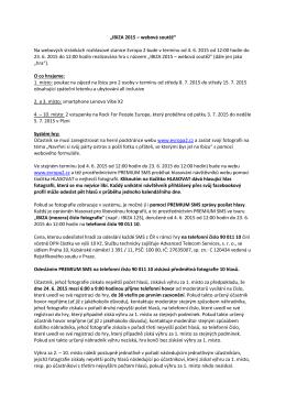 """""""IBIZA 2015 – webová soutěž"""" Na webových stránkách"""