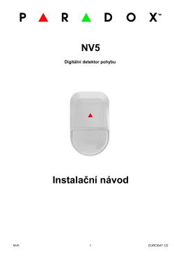 NV5 Instalační návod