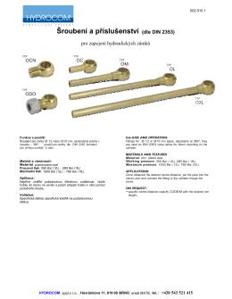 Šroubení a příslušenství (dle DIN 2353)