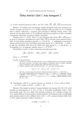 Úlohy domácí části I. kola kategorie C
