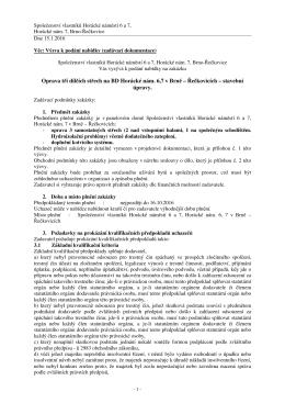 Oprava tří dílčích střech na BD Horácké nám. 6,7 v Brně