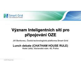 Význam Inteligentních sítí pro připojování OZE
