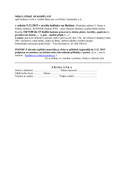 v sobotu 5.12.2015 v areálu loděnice na Bošánu (Podolské nábřeží