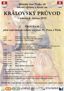 Městská část Praha 16 zve své občany a hosty na v sobotu 6. června