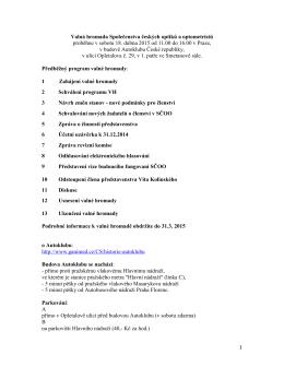 1 Valná hromada Společenstva českých optiků a optometristů
