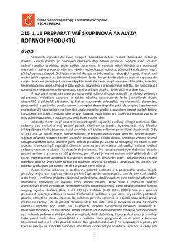 215.1.11 preparativní skupinová analýza ropných produktů úvod
