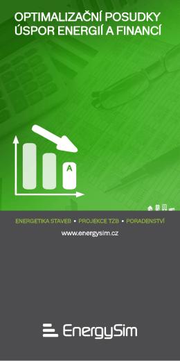 OPTIMALIZAČNÍ POSUDKY ÚSPOR ENERGIÍ A FINANCÍ