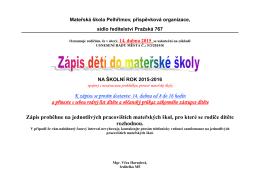 otevřít - Mateřské školy Pelhřimov