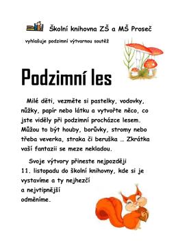 Propozice soutěže ZDE.