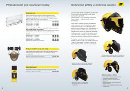 Ochranné přilby a ochrana sluchu Příslušenství pro