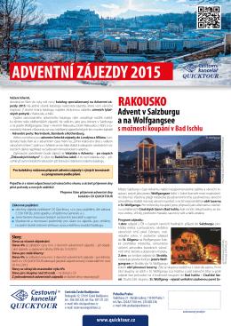 """""""Adventní zájezdy 2015"""" ve formátu PDF"""