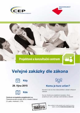 Veřejné zakázky dle zákona - Centrum evropského projektování