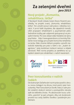 Newsletter jaro 2015 - Občanské sdružení Green Doors