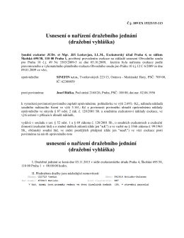 Usnesení o nařízení dražebního jednání - Obec Hutisko