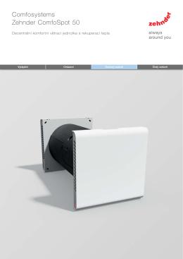 Katalog výrobku Zehnder ComfoSpot 50