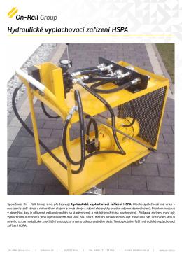 Hydraulické vyplachovací zařízení HSPA - On