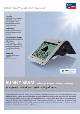 Sunny Beam s rozhraním Bluetooth