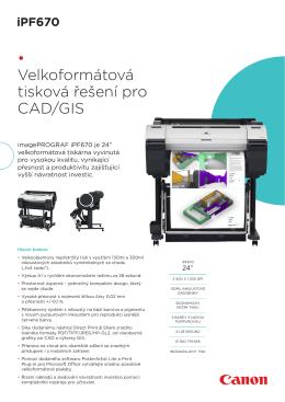 • Velkoformátová tisková řešení pro CAD/GIS