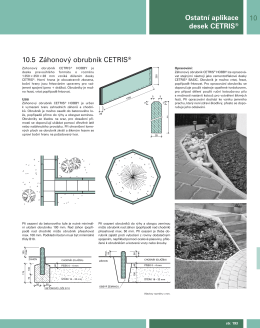10 Ostatní aplikace desek CETRIS® 10.5 Záhonový obrubník
