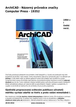 ArchiCAD - Názorný průvodce značky Computer Press