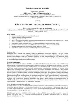 Formát PDF - Informace pro akcionáře
