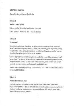 Stanovy spolku - Obec Petrůvka