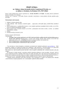pozvánka na valnou hromadu ve formátu pdf