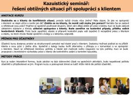 Kazuistický seminář
