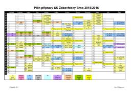 Plán akcí s oddílem 2016