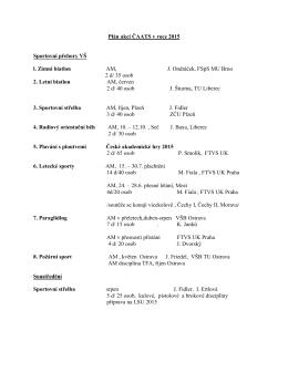 Plán akcí ČAATS v roce 2015 Sportovní přebory VŠ l. Zimní biatlon