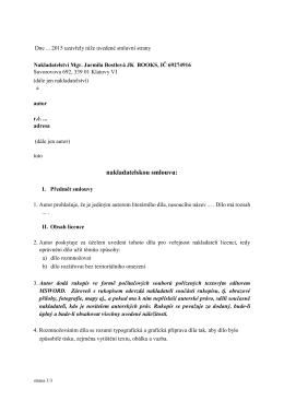 Autorská smlouva