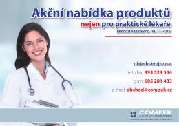 Akční nabídka produktů - COMPEK MEDICAL SERVICES, sro