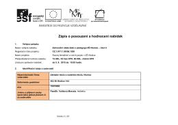 Zápis o posouzení a hodnocení nabídek