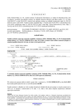 Exekutorský úřad Klatovy - Usnesení